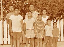 A circa early 1960s photograph of Tokio and Tsurue Ige with their six sons: from left: Richard, Steve, Robert, Theodore, David and Edward. (Photo courtesy Ige family)
