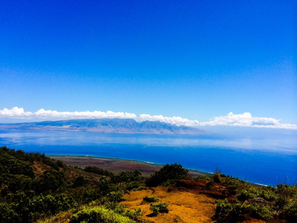 "West Maui from Lanai. ""On a clear day, you can see Maui, Kaho'olawe, Moloka'i, O'ahu, and even Mauna Kea and Mauna Loa on the Big Island from different parts of Läna'i."" — Shara Enay Birbirsa"