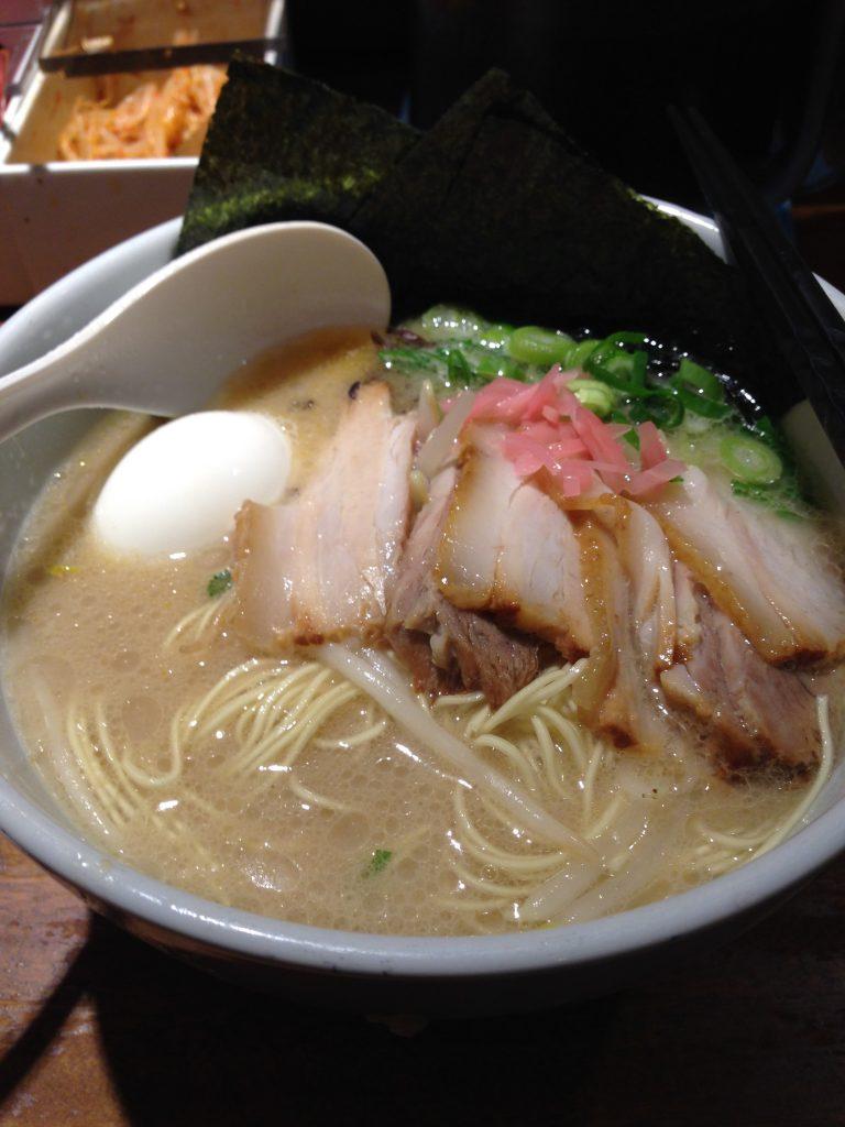 Yummy Hakata ramen that Allena and I enjoyed at Ippudo.