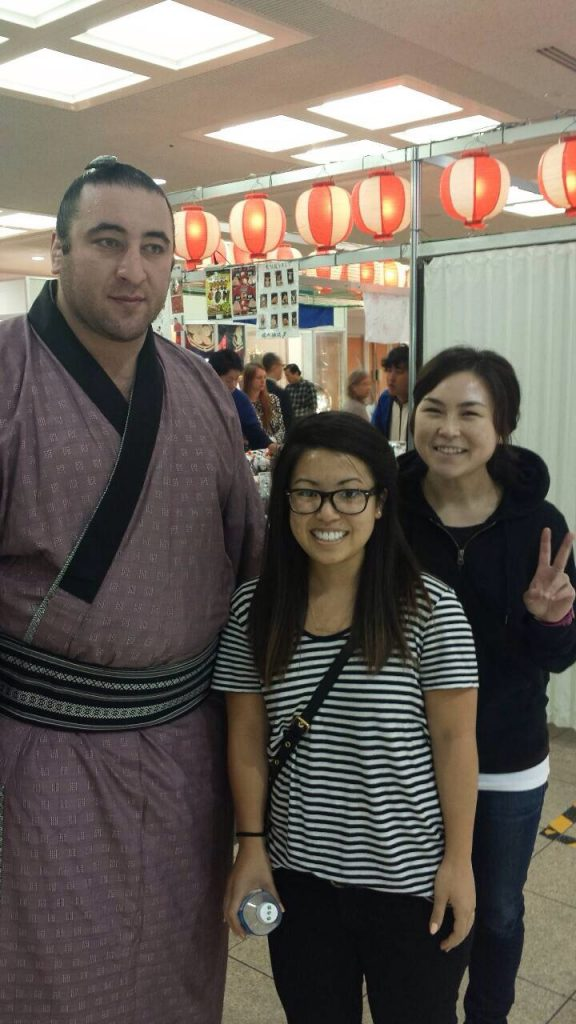 One of the highlights of the day was meeting and having our picture taken with maegashira Tochinoshin, known in his home country of Georgia as Levan Gorgadze.
