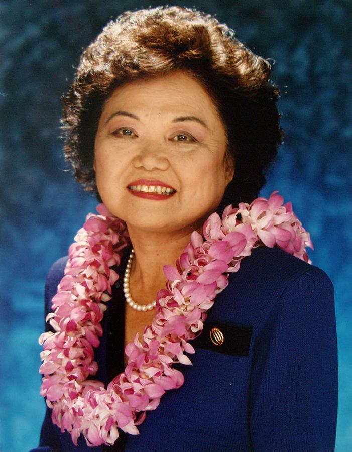 U.S. Representative Patsy T. Mink in 1990.