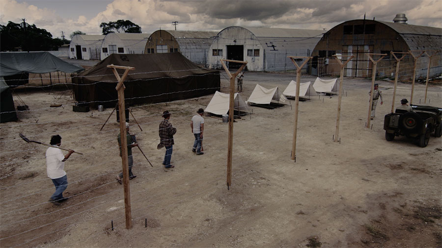 The Sand Island internment camp scene was filmed on a set created at Kalaeloa.