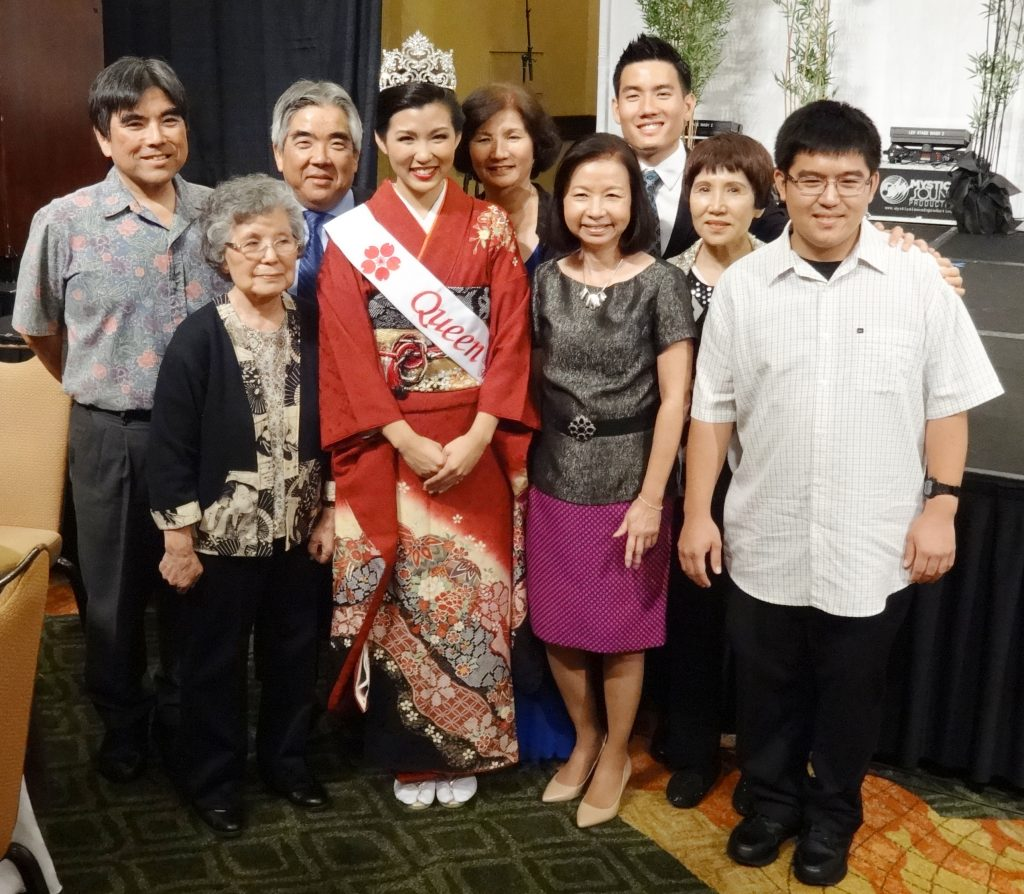Sarah Kamida with her family, soon after being crowned queen in 2014. (Photos courtesy Sarah Kamida)