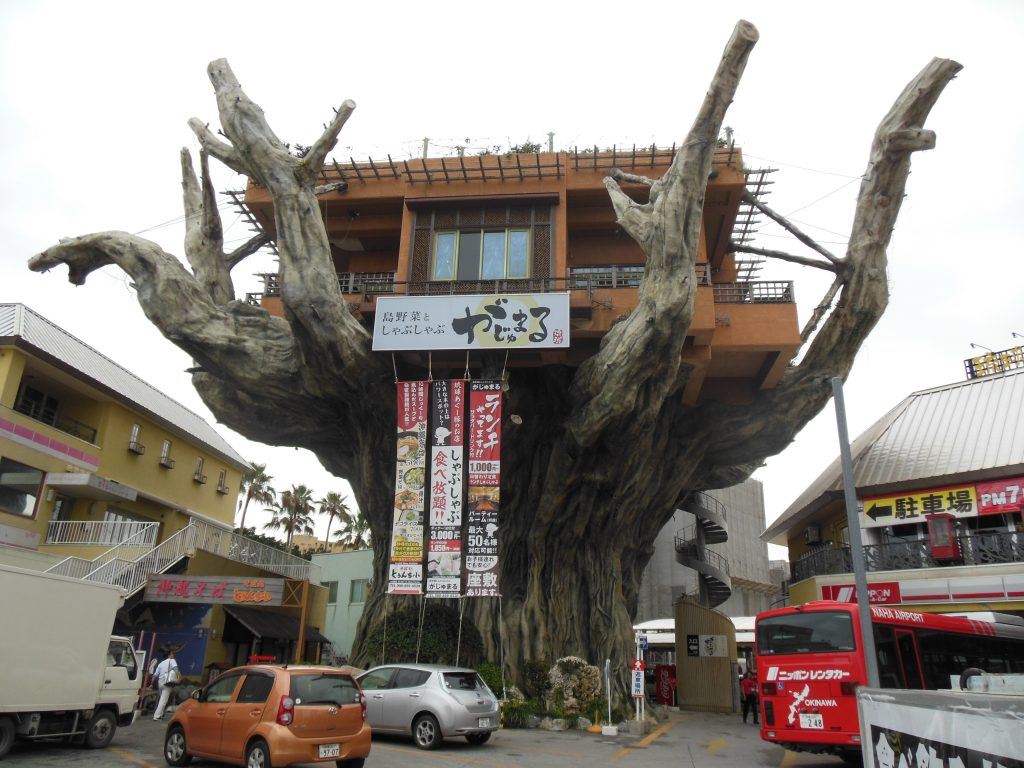 The tree restaurant Gajimaru. (Photos by Louis Wai)