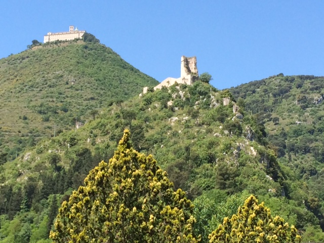 The 100th was committed in another futile attack on Feb. 8, 1944 — this time on Castle Hill, pictured in the foreground with the Abbey of Monte Cassino in the background — where the men were caught in an exposed position for four days.