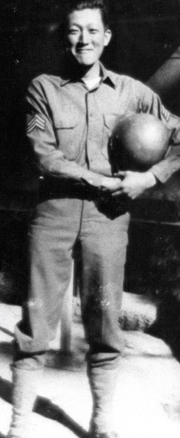 Yutaka Yoshida was in his early 30s when he volunteered for the 442nd Regimental Combat Team. He is pictured here in basic training at Camp Shelby, Miss., in 1943. (Photos courtesy Yutaka Yoshida)
