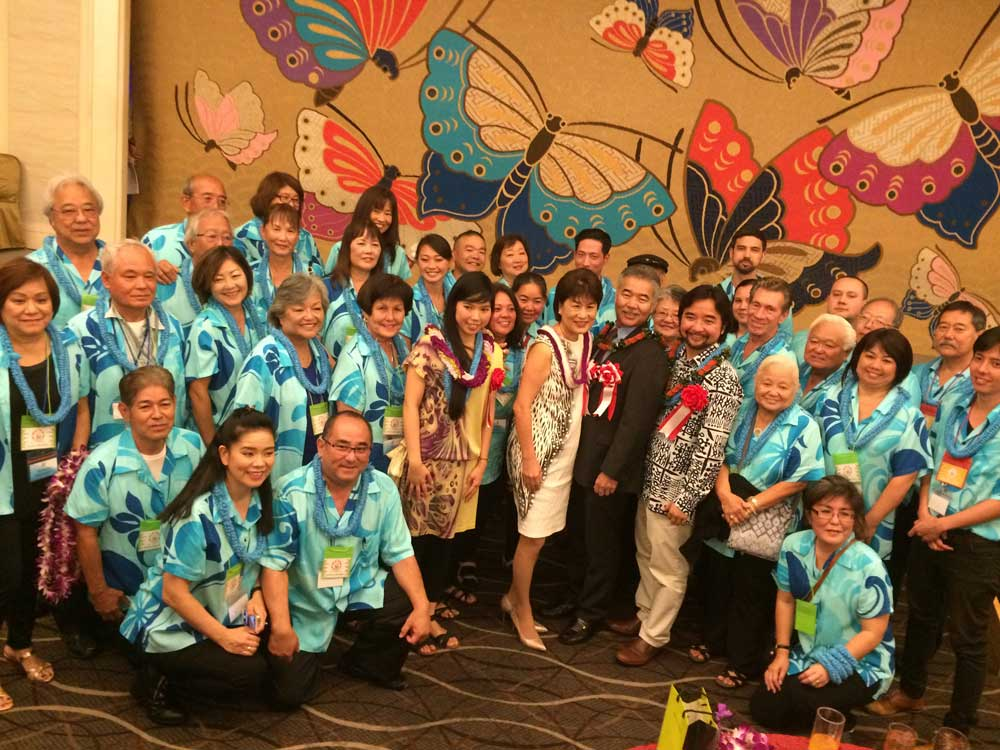 The Iges also attended a reception with participants in the Hawaii United Okinawa Association's annual study tour to Okinawa. (Photos courtesy Grant Murata)