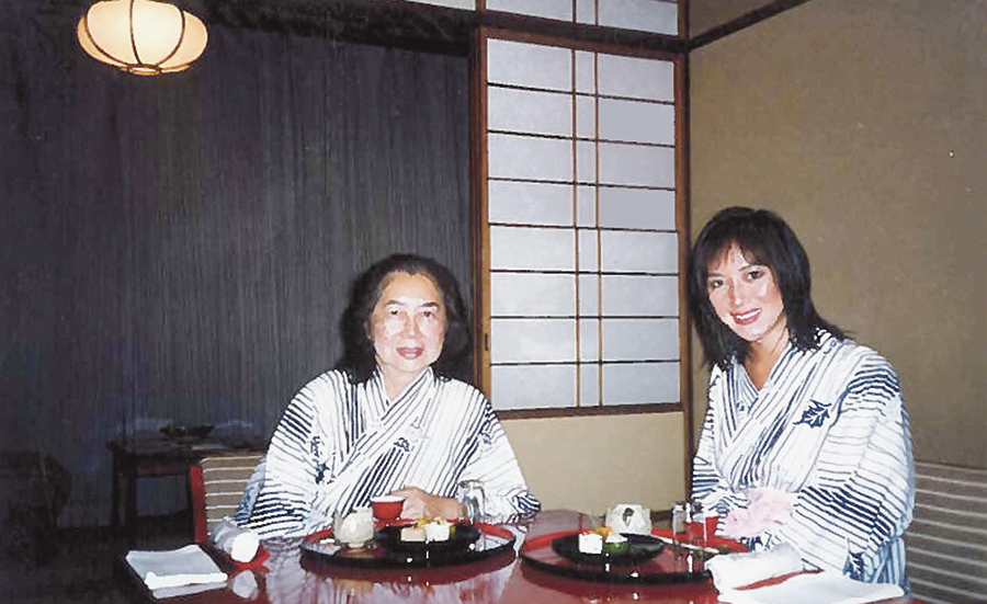Diane and her mom enjoying a meal at a ryokan (inn) in Japan in 1998. (Photos courtesy Diane Ako)