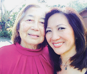 Diane takes a selfie with her mom last December.