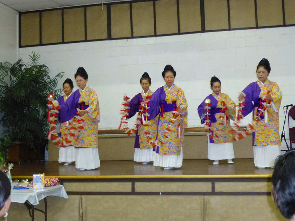 "Ryuko Kai members performing the dance ""Hana."""