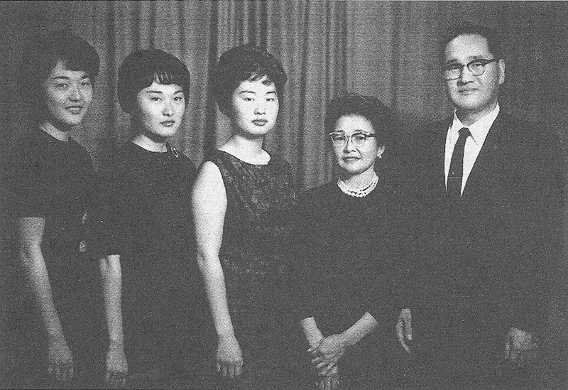 "A studio portrait of the Hoshida family in 1962, in Los Angeles. From left: Carole, Sandra, June, Tamae and George. (From ""Taken from the Paradise Isle: The Hoshida Family Story"")"