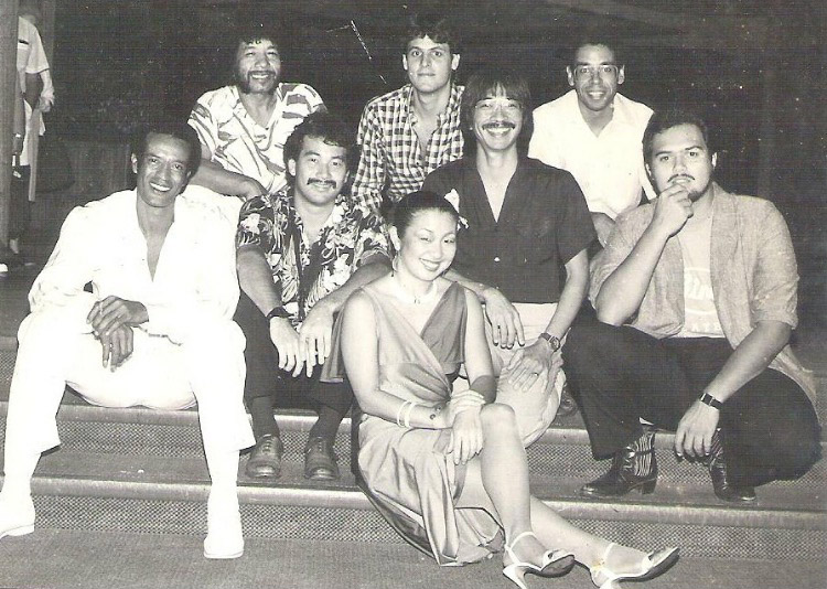 In 1984, a year after returning to Hawai'i, Sandy Tsukiyama was singing with the Mistura Brazilian Jazz Band at Trappers in the Hyatt Regency Waikiki.