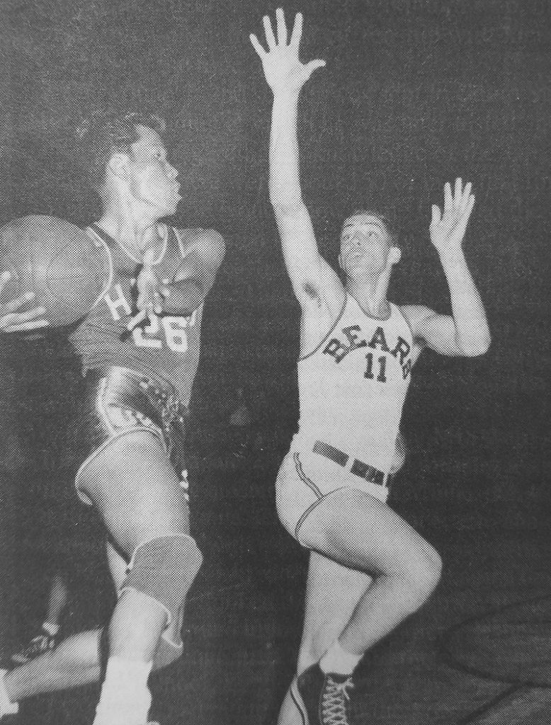 Guard/forward Tommy Yasuhara's driving style of play highlighted the UH basketball teams of the early 1950s.