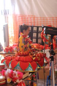 Dress up in traditional Okinawan outfits and have a professional picture taken for a fee. (Photo courtesy HUOA)