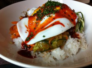 Photo of Hoku's Bi Bim Bap creation.