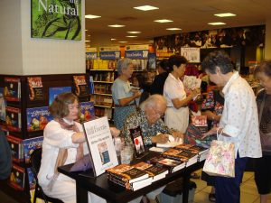 Photo of Milton at Barnes & Nobles in 2008 for a book signing.