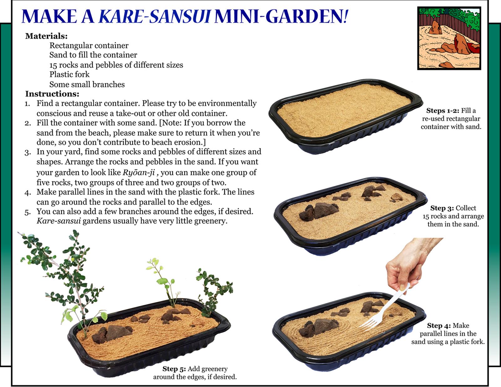 "Culture4Kids! Section, featuring ""Kare-Sansui Mini-Garden"""