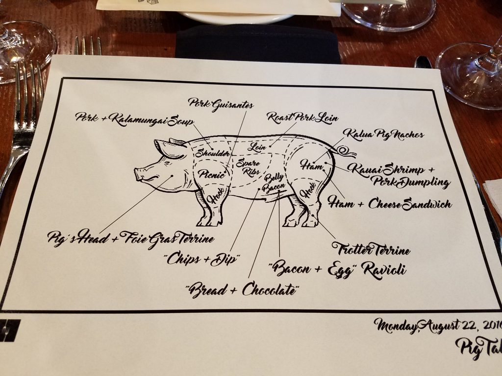 Photo of Pig Tales menu, courtesy of Itadakimasu, issue October 7, 2016