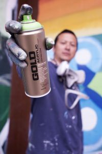 Photo of Veteran graffiti artist Estria Miyashiro