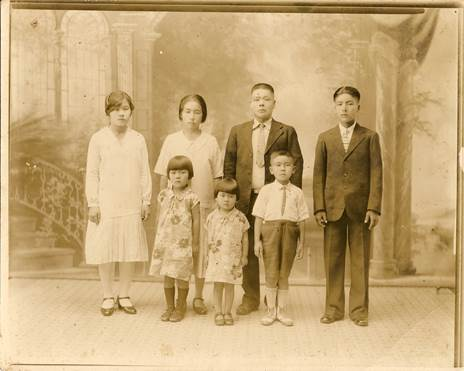 Old photo of Asa Ige's mother's family