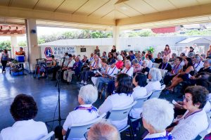 Photo of the Maui Joint Memorial Service, held in the Stanley Izumigawa Pavilion