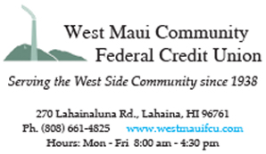 Ad for West Maui Community Federal Credit Union