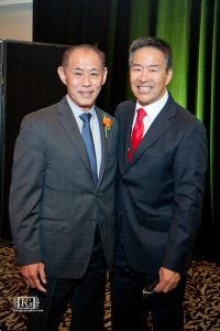 Photo of Dale Minami (left) with Denshö executive director Tom Ikeda, Photo by Kazuko Wohlers, courtesy of Densho