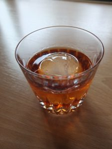 Photo of a barrel-aged Manhattan.