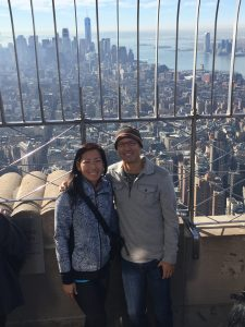 Photo of Meredith and her boyfriend, Franz, at the observation deck of the Empire State Building