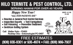Ad for Hilo Termite & Pest Control