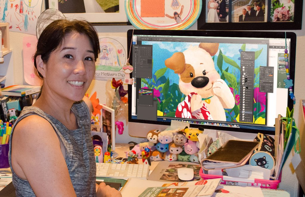 Photo of children book illustrator, Kat Uno (Photo courtesy Kat Uno)