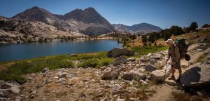 Photo of Keiri at Wanda Lake (Photo by Nathan Kelley, www.nathan kelleyphoto.com/John -Muir-Trail-2016)