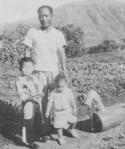 Photo of Mariano Patagne, pictured with the Takabayashi children