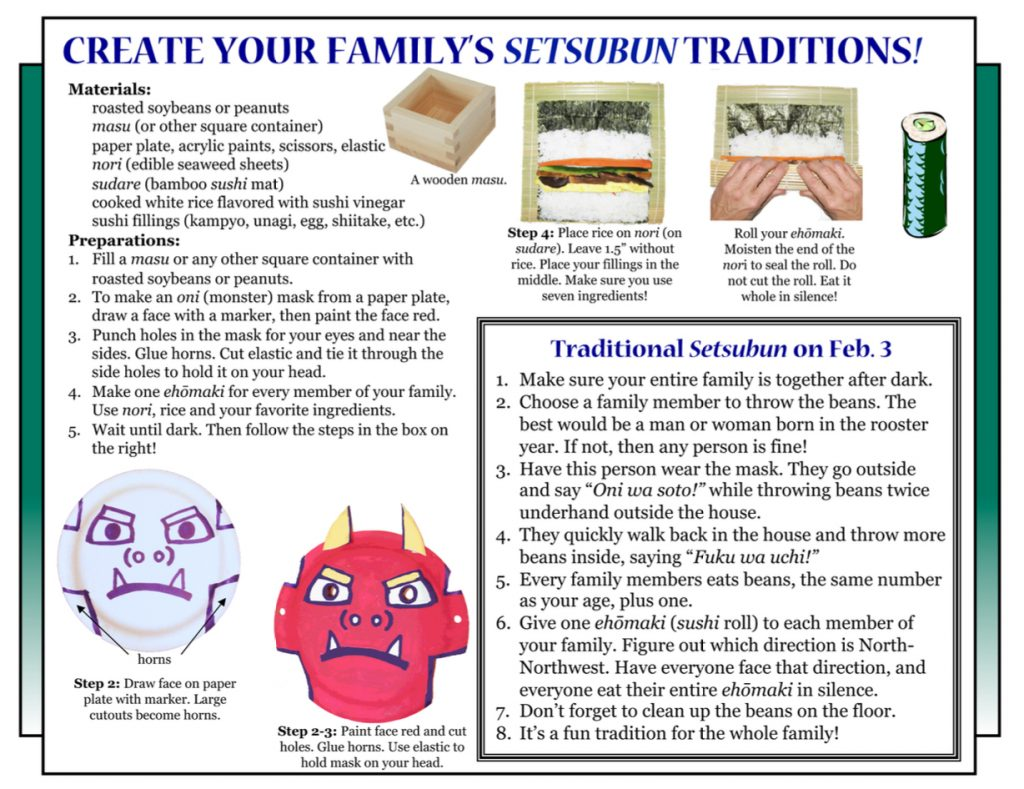 "Culture4Kids! Section, featuring ""How To Create a Setsubun"""