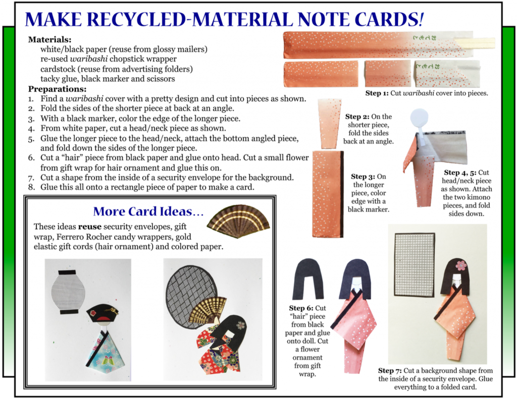 "Culture4Kids! Section, featuring ""Make Recycled-Material Note Cards!"""