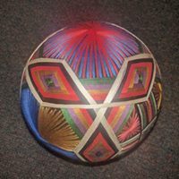 Photo of a decorative ball at Asian Treasures Fair