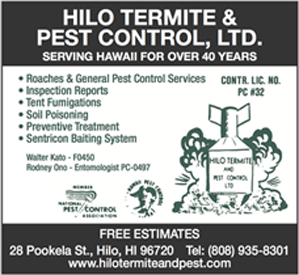 Ad for Hilo Termite and Pest Control