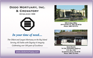 Ad for Dodo Mortuary
