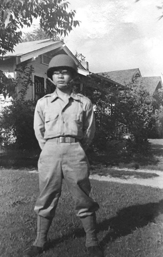A 1943 photo of Dr. Ohata at Fort Sam Houston in Texas after being accepted into the U.S. Army Medical Corps. (Photo courtesy the Ohata family)