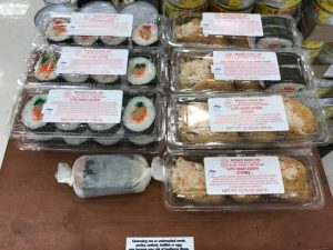 Miyako Sushi's products can be found in various stores and restaurants on Maui, including Longs Drugs, as pictured here.