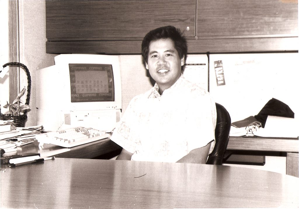 "Rep. Scott Saiki in 1995 — his freshman year as a state representative. ""I've always thought that you have to vote your conscience. I think if you do that, ultimately, people will respect you for that,"" he told the Herald in an April 1995 interview. (Hawai'i Herald archives)"
