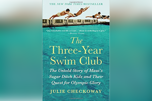 """Book Cover for """"The Three-Year Swim Club"""" By Julie Checkoway"""