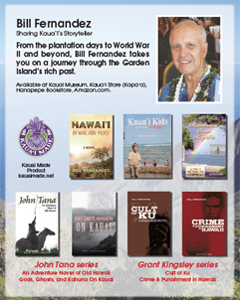 Ad for Bill Fernandez, Kauai Storyteller