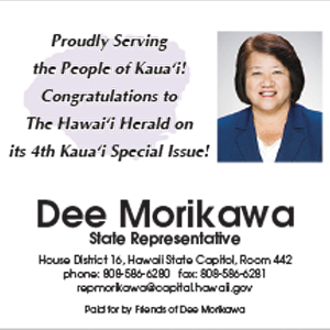 Ad for State Representative, Dee Morikawa