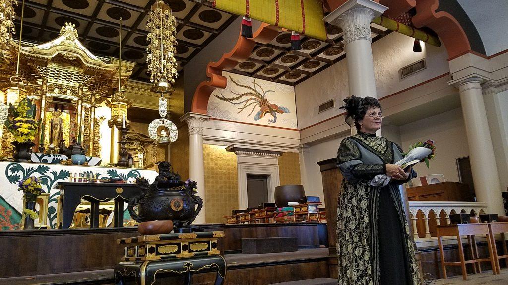 Retired UH-Hilo Professor Jackie Pualani Johnson portrays her majesty Queen Lili'uokalani.
