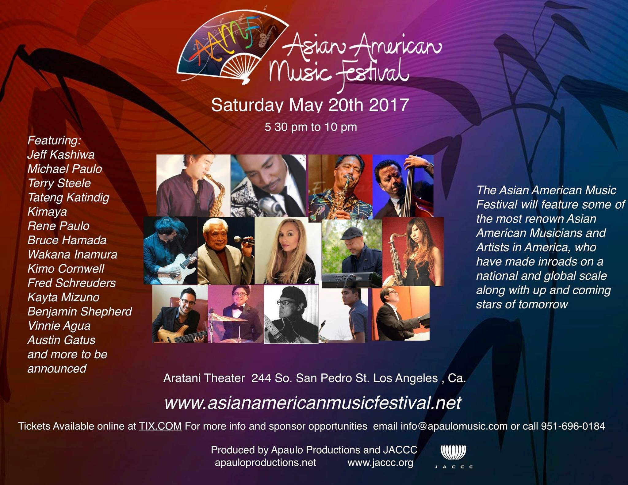 Past Promo for the Asian American Music Festival on May 20th 2017, featuring Bruce Hamada