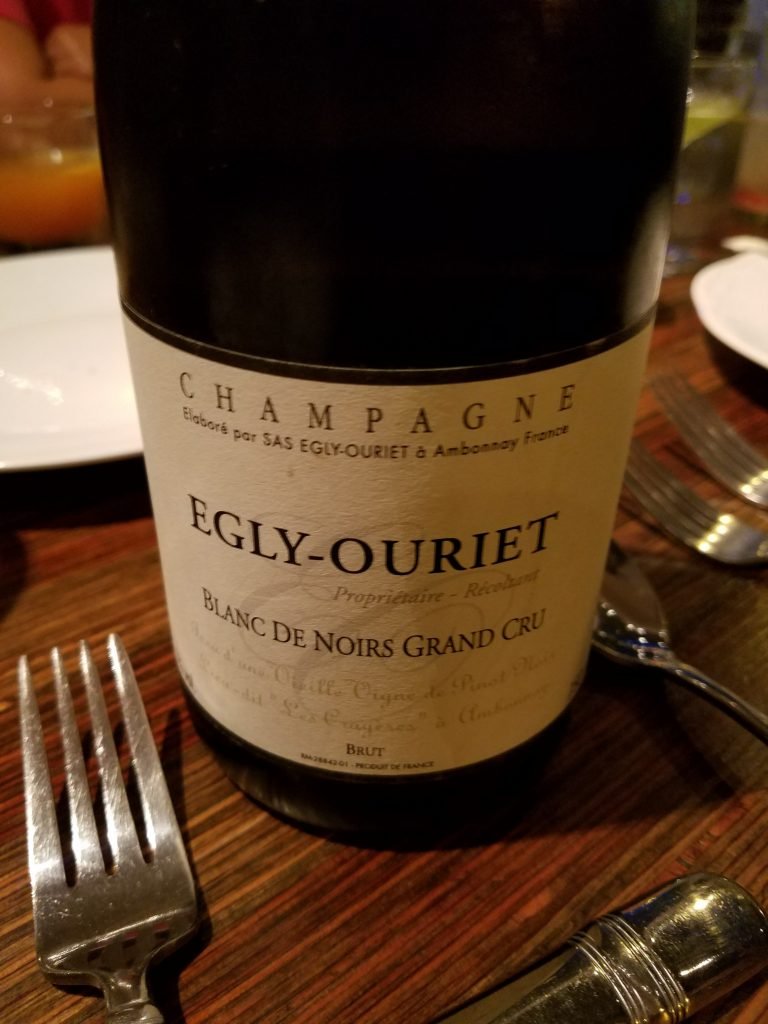Bottle of Egly-Ouriet champagne - on behalf of Ryan Tatsumoto and the Hawaii Herald