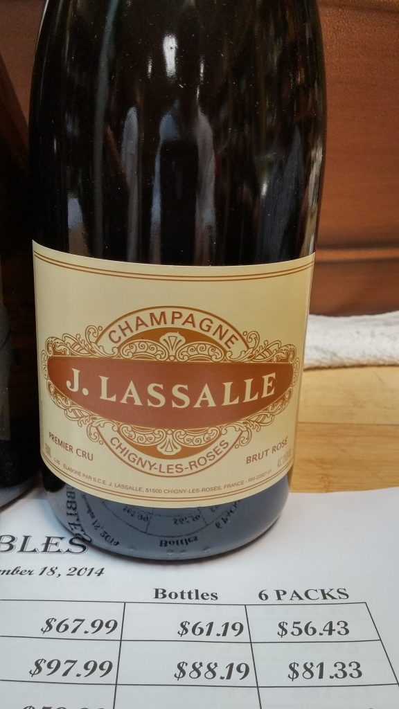 Bottle of J. Lassalle champagne - on behalf of Ryan Tatsumoto and the Hawaii Herald