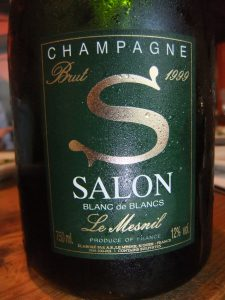 Bottle of S Salon Le Mesmail champagne - on behalf of Ryan Tatsumoto and the Hawaii Herald
